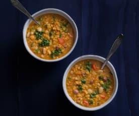 Spiced lentil vegetable soup
