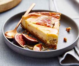 Cheesecake au fromage de brebis et aux figues