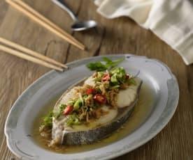 清蒸冬菜鱈魚