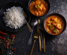 Prawn Curry with Basmati Rice