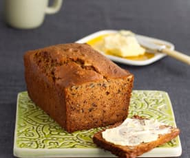 Gluten Free Date, Apple and Walnut Tea Bread