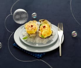 Menu 2 - Huîtres chaudes au sabayon de Vouvray et douceur de carotte