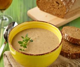Chlebová pivní polévka