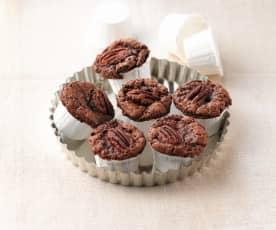 Schoggi-Muffins mit Pekannüssen