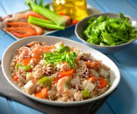 Orzo e pesce in insalata
