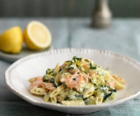 Smoked Salmon and Courgette Pasta