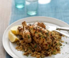 Jarní kuřátko v páře s quinou