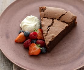 Chocolate Hazelnut Torte with Fresh Berries