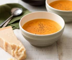 Zupa z papryki i parmezanu