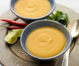 Zupa z batatów z pastą curry