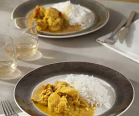 Spicy Chicken Curry with Rum and Basmati Rice