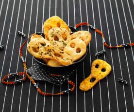 Biscuits apéritifs 'fantômes'