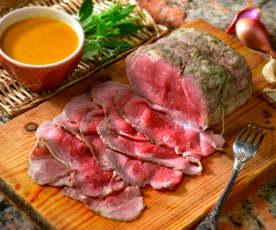 Roastbeef in salsa indiavolata