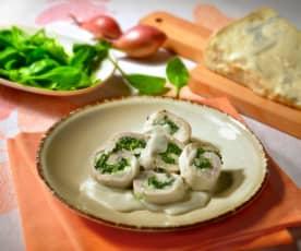 Trutenrollen mit Gorgonzola