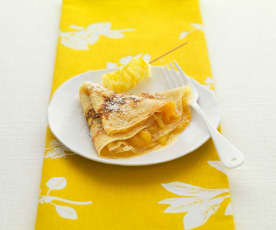 Pineapple and Rum Pancakes