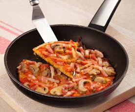 Gluten Free Ham and Mushroom Pizza