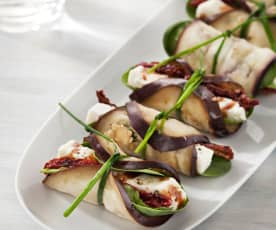 Eggplant with Feta Cheese and Sundried Tomatoes