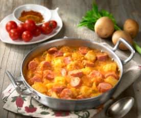 Wurstel e patate speziate