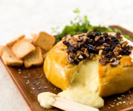 Brie com mel e oregãos