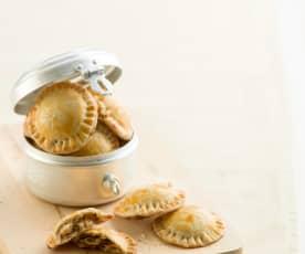 Aperitivos de cebola caramelizada