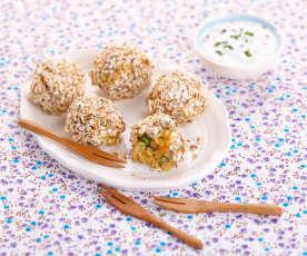 Boulettes de légumes aux lentilles corail