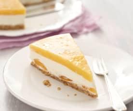 Nepečený meruňkový dort s čerstvým sýrem