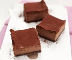 Kávovo-čokoládový tvarohový koláč