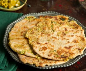 Cauliflower Stuffed Parathas