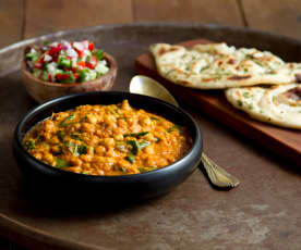 Curry de garbanzos rogan josh - India