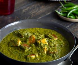 Indyjski ser ze szpinakiem (Palak Paneer)