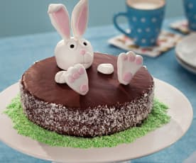 Coconut and Chocolate Easter Cake