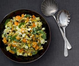 Blumenkohlsalat mit Nüssen und Süsskartoffeln