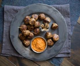Meatballs with Romesco Sauce