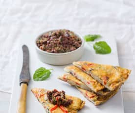 Red Pepper Spanish 'Tortilla' with Olive Tapenade