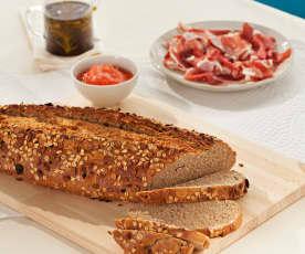 Pan integral con muesli