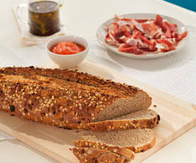 Pane integrale con muesli