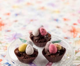 Mini ninhos de chocolate