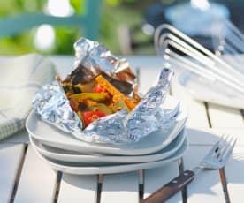 Paprika-Mandel-Marinade für Gemüse