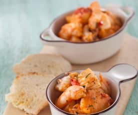 Seafood Stir-fry in Tomato Sauce