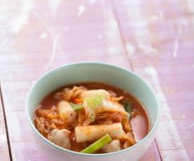 泡菜年糕湯
