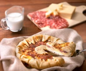 Crostata al salame e formaggio (senza glutine)