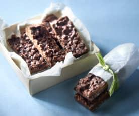 Barrette di cioccolato e riso soffiato (senza glutine)