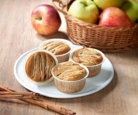 Muffin integrali alle mele (senza glutine)