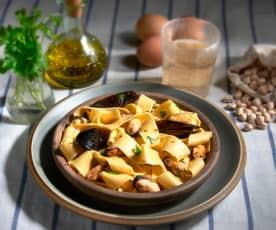 Pappardelle di ceci alle cozze (senza glutine)