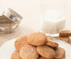 Oaty Cookies with Wholemeal Flour and Honey