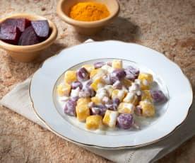 Gnocchi di due colori (senza glutine e senza uova)