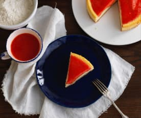 Cheesecake de morango no forno
