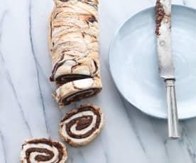 Torta de chocolate e castanha