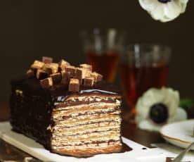Intenso de amendoim, caramelo e chocolate