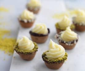 Petit-fours de chocolate branco